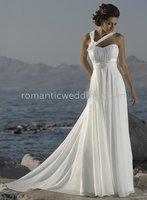 Beach Sleeveless Wedding Dresses 95585(any size/color)