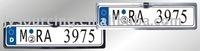 EU plate frame waterproof rear view car camera
