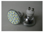 SMD LED Spot light;GU10 base;18pcs 5050 led;180lm;2800K-3300K,warm white