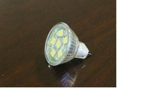 SMD LED Spot light;MR11 base;6pcs 5050 led;72lm;5500K-6000K,cold white