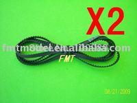 F00474-2  2PCS 397T Drive Belt for ALIGN TREX T-REX 450 SE V2 GF XL CF Sport  + Free shipping via CPAM