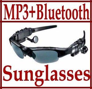 Sunglasses Mp3 Player with Bluetooth phone talk- Sunglass sports headphones sun glass 4GB Headset black silver