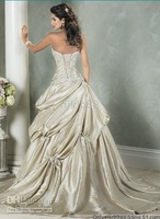 2010 New Wedding Dress Wedding Apparel & Accessories strapless sleeveless all Size #FFF57