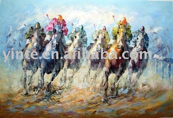 FREE SHIPPING horse oil painting ytm006