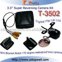 3.5 inch Car Digital Flip Up TFT LCD Reversing Camera System