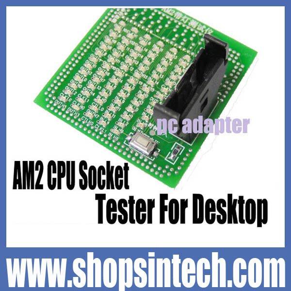 1pc/box AM2 CPU Socket tester card for desktop motherboard(Hong Kong)