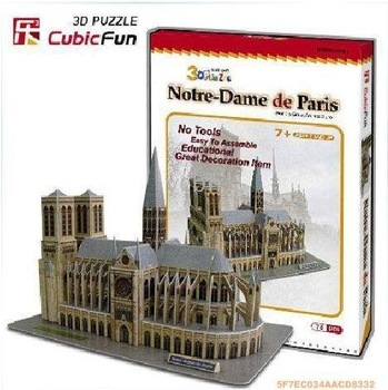 - 3D Puzzle Cubic Fun Notre Dame de Paris Architecture DIY Paper Toy 30 pcs a lot