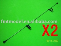 F01468-2,    2 X Tail Linkage Rod For  T-REX All 450 Rc Helicopter + Free shipping via CPAM