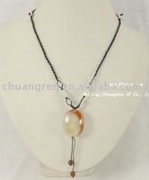 "free shipping,wholesale 24-30"" agate pendant & jasper stretch necklace"