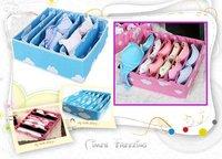 Wholesale 10pcs/lot Bra Brassiere Socks Underwear Underclothes 7 grids Space Collecting Storage Box Case Bag Organizer