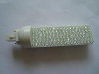 G24 7W LED bulb;108pcs 5mm dip led, white color