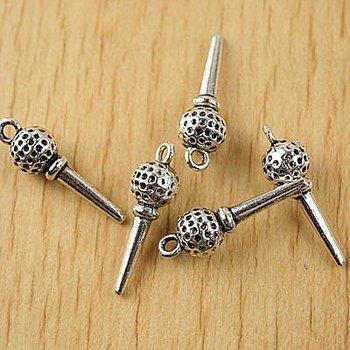30pcs Tibetan silver a golf ball on a tee charms h1687