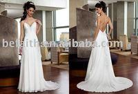 0111 Freeshipping Best Selling Gorgeous Bridal Court Train Wedding Dresses