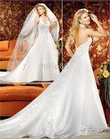 2010 New Wedding Dress Wedding Apparel & Accessories strapless sleeveless all Size #FFFww8