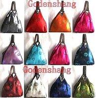 Wholesale10 Chinese satin sequin deltoid handbags bags