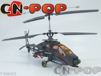 4CH RC Helicopter radio remote control Helicopter Electric Apache RTF toy free shipping 6pcs/lot