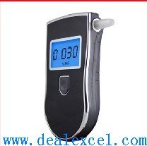 Free Shipping! Patent Police Alcohol Tester Breathalyzer breath analyzer with 3 Digits LCD Display & 5 mouthpiece