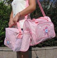child package Diaper Bags Diaper handbags 3 pack a set 10sets / lot A5 Mummy bag mother