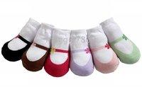 Baby Anti-skid Infant Socks Flowers& shoes socks girl Stockings baby Sock