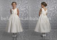 FL-1324 Free shipping A-Line Stain Lovely Flower Girl Dress