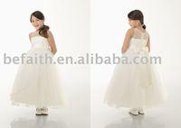 FL-1318 Free shipping A-Line Stain Lovely Flower Girl Dress