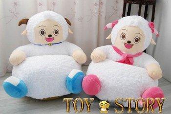 little white sheep&KIDS STUFFED ANIMAL SOFA KIDS CHAIR
