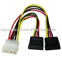 4 Pin IDE to 15 Pin ATA SATA Splitter Power Cable Lead, 100pcs/lot, DHL/EMS Free Shipping
