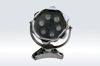 6*1WLED Underwater Light;DMX512 compatible;DC12V input;IP68;Stainless steel housing;please advise the color you need