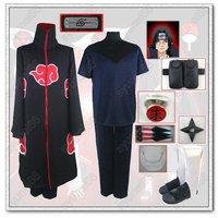 Naruto Akatsuki Uchiha Itachi cloak cosplay costume all size