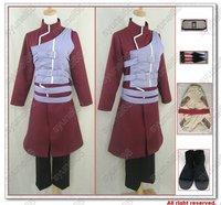 Naruto Gaara cosplay costume all sizes Free Shipping Custom Made