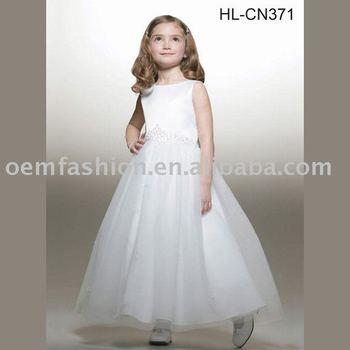 beautiful flower girl dress/children dress/kid dress HL-CN371