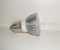 E27 1W Led white spotlight light bulbs with long liftspain 110-120V
