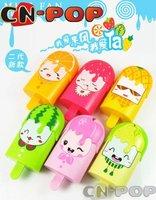free shipping Mini fan Electric fans summer toys Portable ice-cream fruit design 36pcs/lot