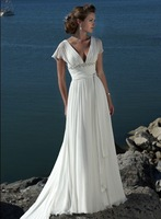 A-line beach wedding dress/ prom dress/ good evening dress
