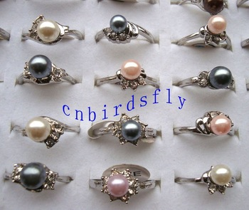 wholesale lots pearl rings free shipping ring jewelry rings fashion jewelry wedding jewelry charm jewelry