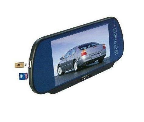 reversing the priority MP5 Player 7-inch car rearview mirror monitors SD, USB, FM launch,(China (Mainland))