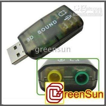 Headset Adapter (100pcs/lot) USB 3d Audio Sound Card Microphone