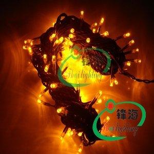 10M 100pcs Yellow led christmas light/ led christmas string light/AC110V or AC 220V/Waterproof good for outdoor use