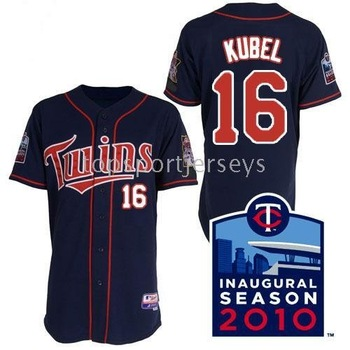 Jerseys #16 Jason Kubel blue Baseball Jersey Size 44-56 (XS-3XL) 2010 Minnesota Twins