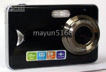 2pcs DC-550 Black 10 Mega pixels 2.4 inch Touch screen Digital Camera Digital SLR degital camcorder
