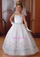Kids Clothing for girl flower girl wedding dress pink white blue color in stock performance clothes  FL-413