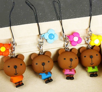 60 pcs Cute Bear toy Phone Strap Charms Mobile Accessory Ornaments Christmas Gift