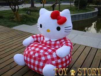 HELLO KITTY CAT STUFFED ANIMAL SOFA KIDS CHAIR
