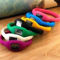 Anion silicon  wristband sport watch Fashion new free shipping