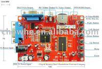 VGA to RGBS/CGA/EGA/AV/S video (PC to TV) video game converter PCB