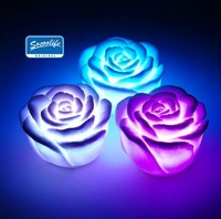 Free Shipping!LED rose light,romantic light, LED rose lamp+ABS+100pcs/lot