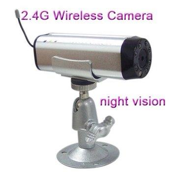 10pcs  2.4G 4CH Wireless Mini night vision pinhole hidden Camera Color Audio CCTV Cam