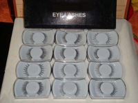 *New* makeup Black False Eyelashes WITH Glue (40 pcs/lot) Wholesale