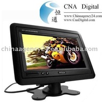 Headrest/Stand In Car TFT LCD Monitor 7 inches 7019 Black