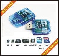 Hot sale-memory card usb 2.0 card readers \sd \mmc \tf ms\ card readers